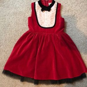 Other - Girls Red Holiday Dress - M 7/8